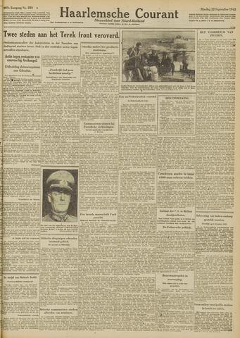 Haarlemsche Courant 1942-09-22