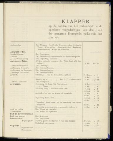 Raadsnotulen Heemstede 1910