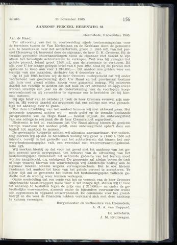 Raadsnotulen Heemstede 1965-11-11