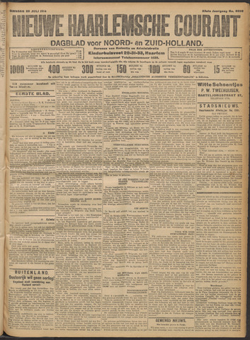 Nieuwe Haarlemsche Courant 1914-07-28
