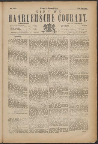 Nieuwe Haarlemsche Courant 1889-02-22