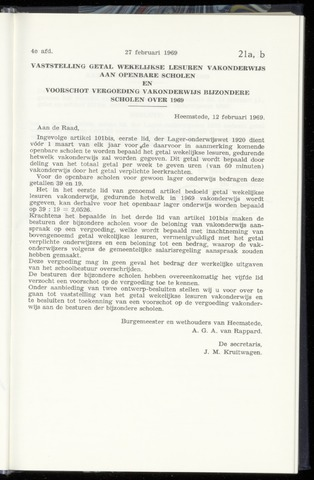 Raadsnotulen Heemstede 1969-02-27