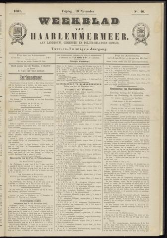 Weekblad van Haarlemmermeer 1881-11-18