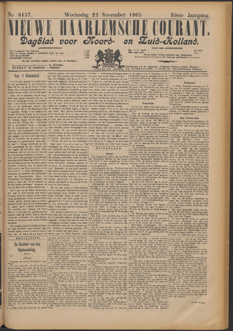 Nieuwe Haarlemsche Courant 1905-11-22