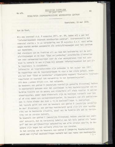 Raadsnotulen Heemstede 1978-06-29