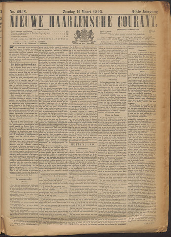 Nieuwe Haarlemsche Courant 1895-03-10