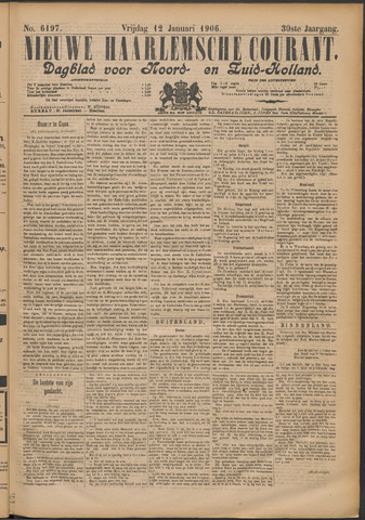 Nieuwe Haarlemsche Courant 1906-01-12