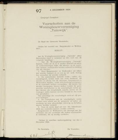 Raadsnotulen Heemstede 1924-12-04