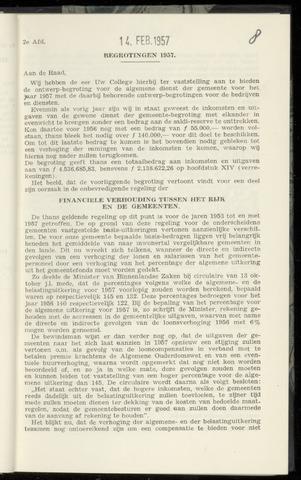 Raadsnotulen Heemstede 1957-02-14