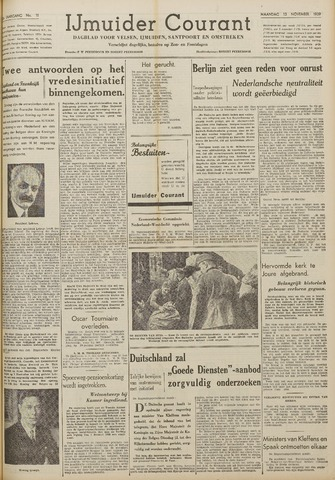 IJmuider Courant 1939-11-13