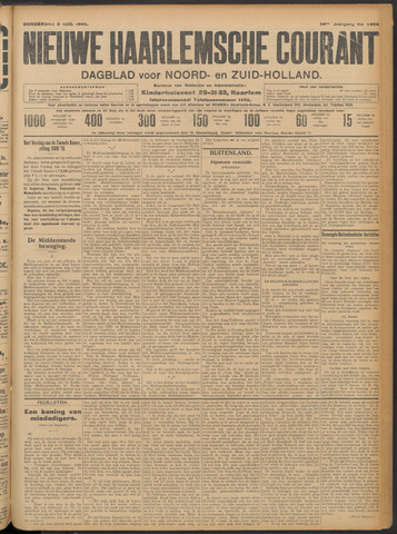 Nieuwe Haarlemsche Courant 1909-08-05