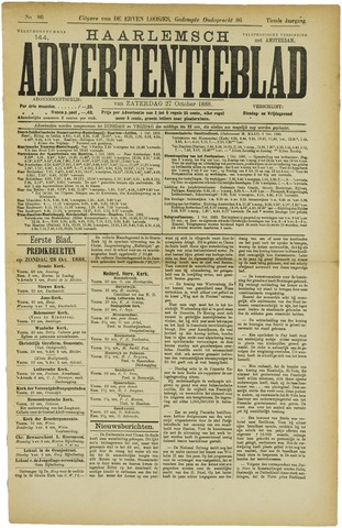 Haarlemsch Advertentieblad 1888-10-27