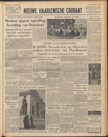 Nieuwe Haarlemsche Courant 1954-10-07