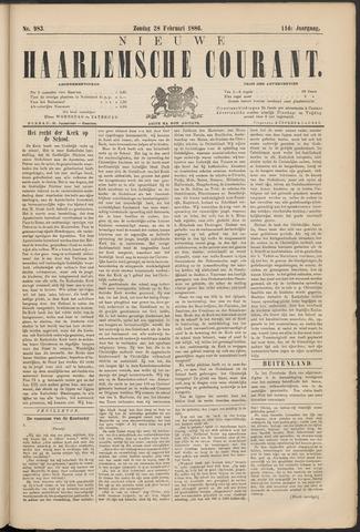 Nieuwe Haarlemsche Courant 1886-02-28