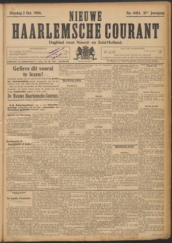 Nieuwe Haarlemsche Courant 1906-10-02