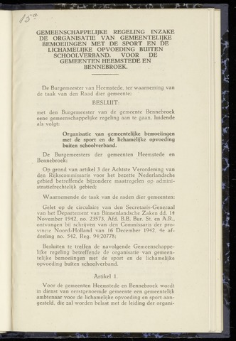Raadsnotulen Heemstede 1943-06-10