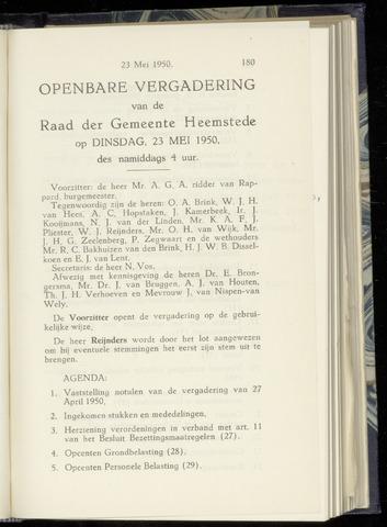 Raadsnotulen Heemstede 1950-05-23