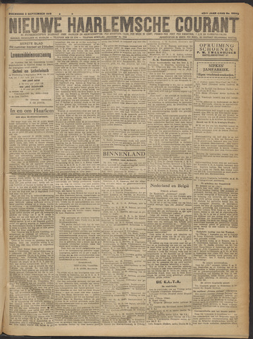 Nieuwe Haarlemsche Courant 1919-09-03