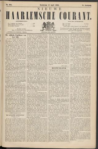 Nieuwe Haarlemsche Courant 1883-04-12