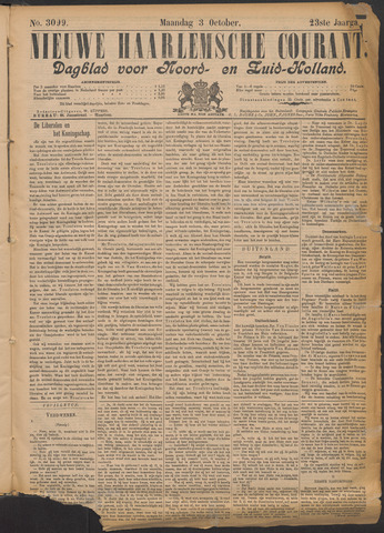 Nieuwe Haarlemsche Courant 1898-10-03