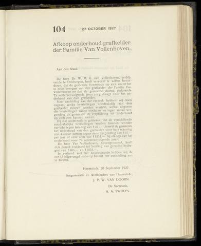 Raadsnotulen Heemstede 1927-10-27