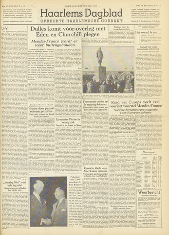 Haarlem's Dagblad 1954-09-24