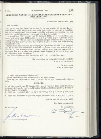 Raadsnotulen Heemstede 1965-11-26