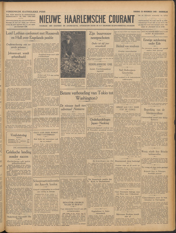 Nieuwe Haarlemsche Courant 1940-11-26