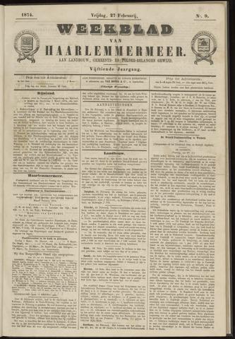 Weekblad van Haarlemmermeer 1874-02-27