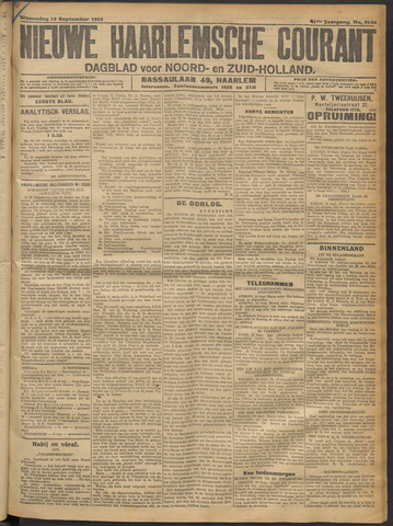 Nieuwe Haarlemsche Courant 1916-09-13