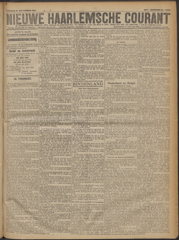 Nieuwe Haarlemsche Courant 1919-09-16