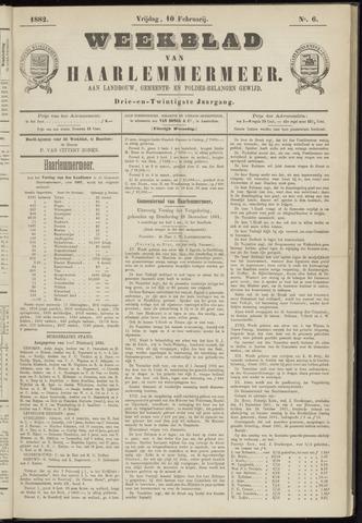 Weekblad van Haarlemmermeer 1882-02-10