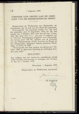 Raadsnotulen Heemstede 1945-08-02