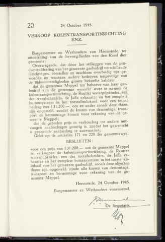 Raadsnotulen Heemstede 1945-10-24