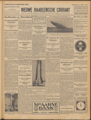 Nieuwe Haarlemsche Courant 1933-04-08