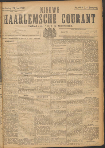Nieuwe Haarlemsche Courant 1907-06-20