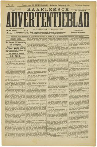 Haarlemsch Advertentieblad 1898-11-12