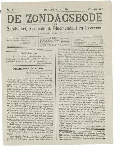 De Zondagsbode voor Zandvoort en Aerdenhout 1916-07-09