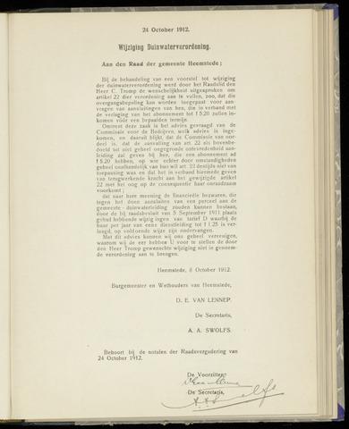 Raadsnotulen Heemstede 1912-10-24