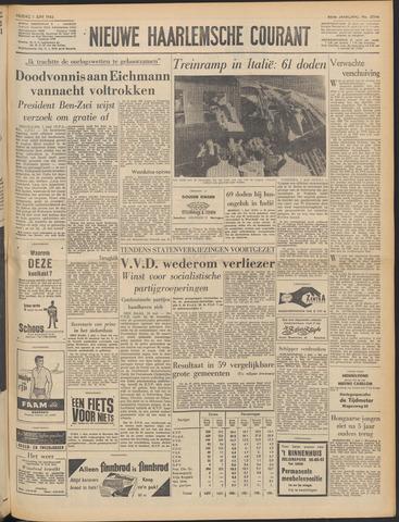 Nieuwe Haarlemsche Courant 1962-06-01