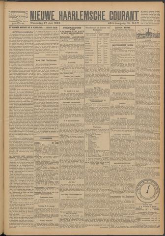 Nieuwe Haarlemsche Courant 1923-06-27