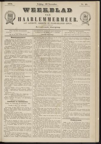 Weekblad van Haarlemmermeer 1876-11-10