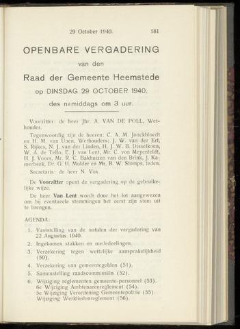 Raadsnotulen Heemstede 1940-10-29