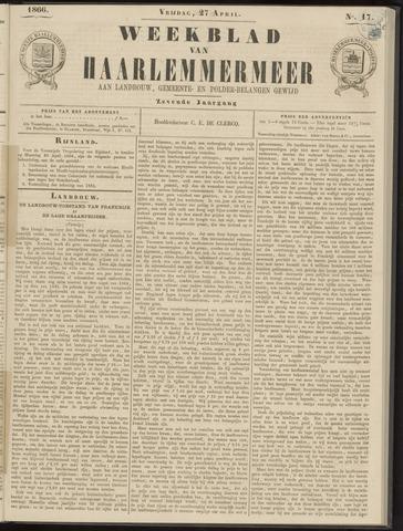 Weekblad van Haarlemmermeer 1866-04-27