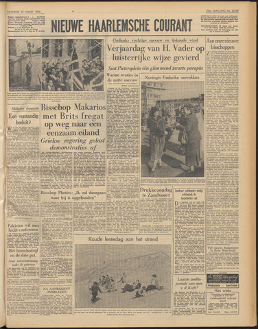 Nieuwe Haarlemsche Courant 1956-03-12
