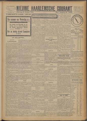 Nieuwe Haarlemsche Courant 1923-10-22