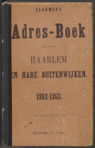 Adresboeken Haarlem 1862