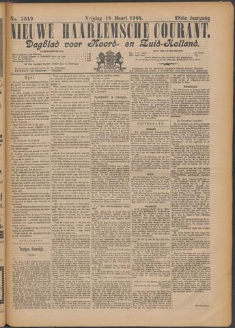 Nieuwe Haarlemsche Courant 1904-03-18