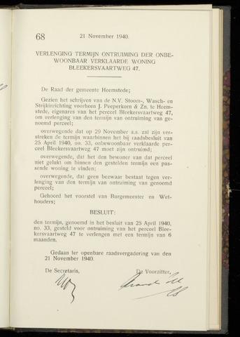 Raadsnotulen Heemstede 1940-11-21