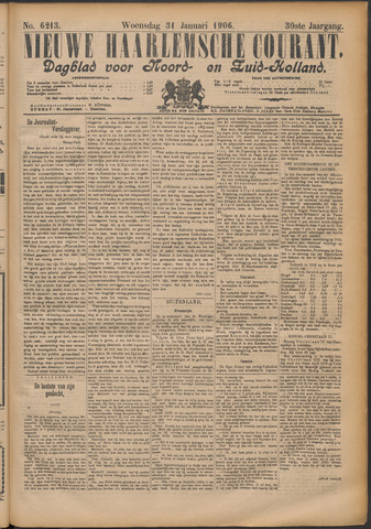 Nieuwe Haarlemsche Courant 1906-01-31